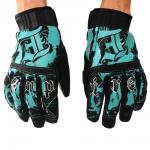 Pipe glove aqua/black
